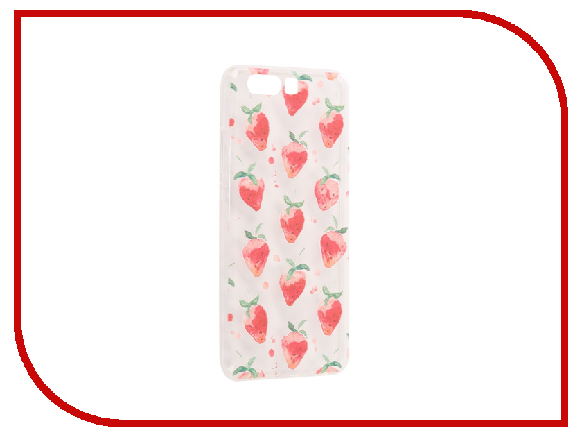 Аксессуар Чехол Huawei P10 With Love. Moscow Silicone Strawberry 6432 юбка strawberry witch lolita sk