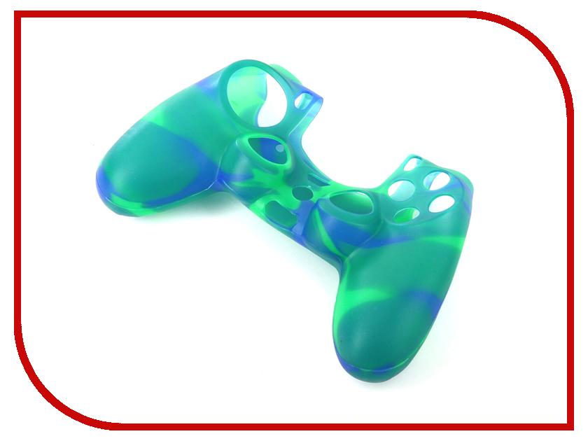 Чехол Apres Silicone Case Cover for PS4 Dualshock Blue-Green тени для век essence тени хайлайтер hi lighting eyeshadow mousse 02 цвет 02 hi peaches variant hex name f9c4af