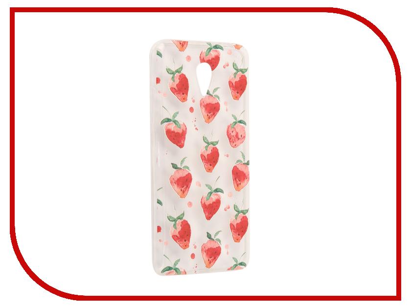 Аксессуар Чехол Meizu M3 Note With Love. Moscow Silicone Strawberry 6544 чехлы для телефонов with love moscow силиконовый дизайнерский чехол для meizu m3s перья