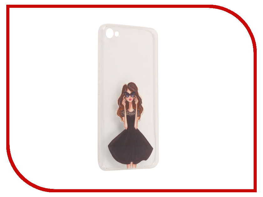 Аксессуар Чехол для Meizu U20 With Love. Moscow Silicone Girl in a Dress 6873 платья для девочки summer gtyle baby girl версия для печати flower dot girl dress for wedding girls party dress with bow dress for 4 8 years