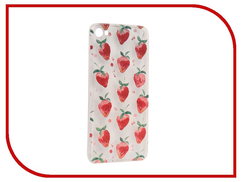 Аксессуар Чехол Meizu U20 With Love. Moscow Silicone Strawberry 6880 чехлы для телефонов with love moscow силиконовый дизайнерский чехол для meizu m3s перья