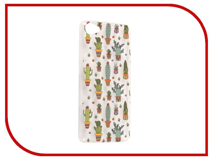 Аксессуар Чехол Meizu U10 With Love. Moscow Silicone Cactus 6820 чехлы для телефонов with love moscow силиконовый дизайнерский чехол для meizu m3s перья