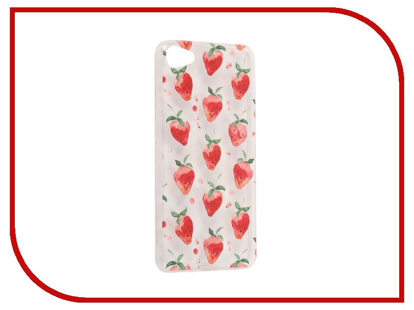 Аксессуар Чехол Meizu U10 With Love. Moscow Silicone Strawberry 6824 чехлы для телефонов with love moscow силиконовый дизайнерский чехол для meizu m3s перья