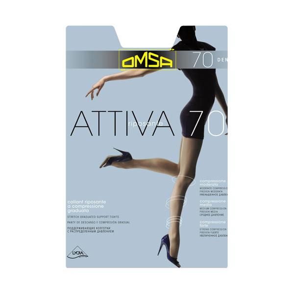 Колготки OMSA Attiva размер 2 плотность 70 Den Daino колготки omsa superlativa 70 цвет nero черный 4069om размер 4 46 48