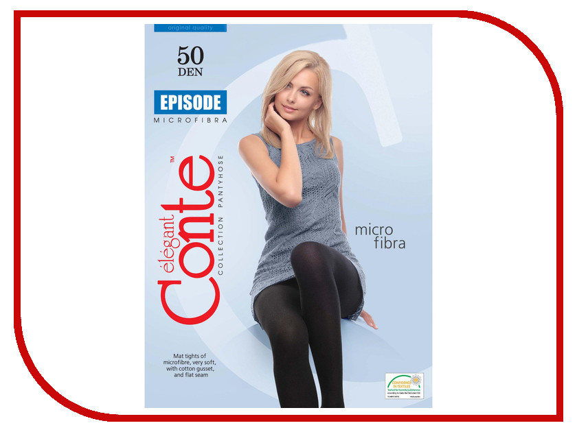 цена на Колготки Conte Episode размер 6 (XL) плотность 50 Den Nero