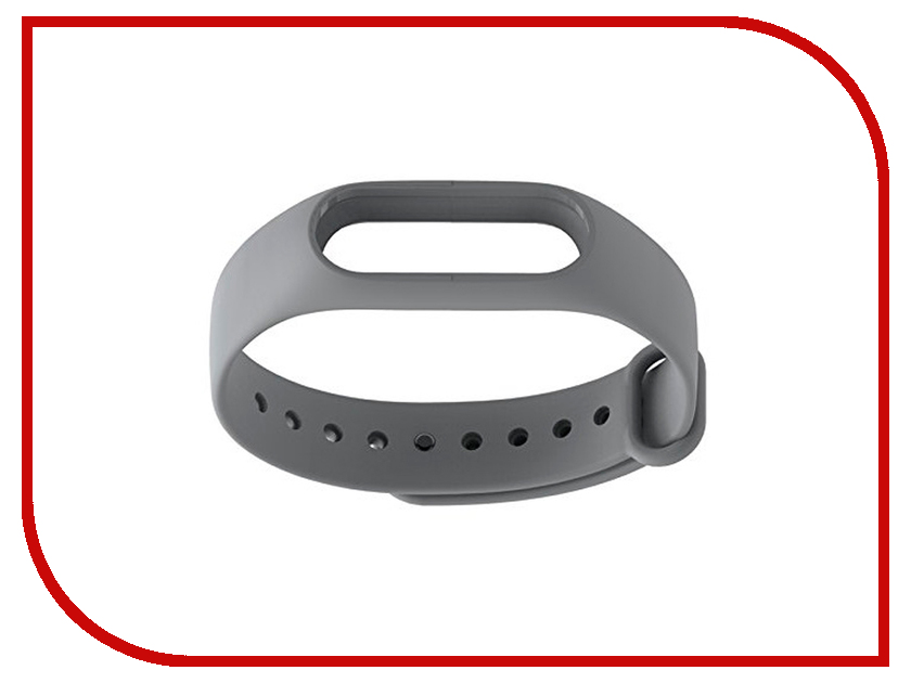 aксессуар кабель red line usb charger for xiaomi mi band 2 black Aксессуар Ремешок Xiaomi Mi Band 2 Grey