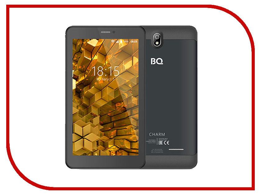 Планшет BQ BQ-7081G Charm Black (MediaTek MT8321M 1.3 GHz/1024Mb/8Gb/Wi-Fi/3G/Bluetooth/GPS/Cam/7.0/1024x600/Android) планшет digma plane 1601 3g ps1060mg black