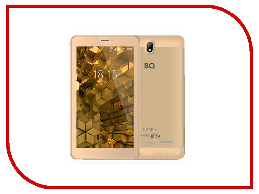 Планшет BQ BQ-7081G Charm Gold (MediaTek MT8321M 1.3 GHz/1024Mb/8Gb/Wi-Fi/3G/Bluetooth/GPS/Cam/7.0/1024x600/Android) планшет lenovo tab 4 tb 7304x za330039ru black mediatek mt8735d 1 3 ghz 1024mb 16gb gps wi fi bluetooth cam 7 0 1024x600 android
