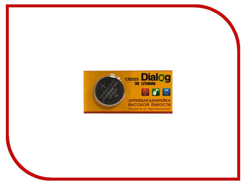 Батарейка CR2025 - Dialog CR2025 5V (1 штука) батарейка эра cr2025 1bl cr2025 1 шт