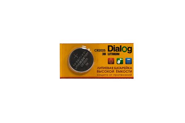 Батарейка CR2025 - Dialog CR2025 5V (1 штука) цена 2017