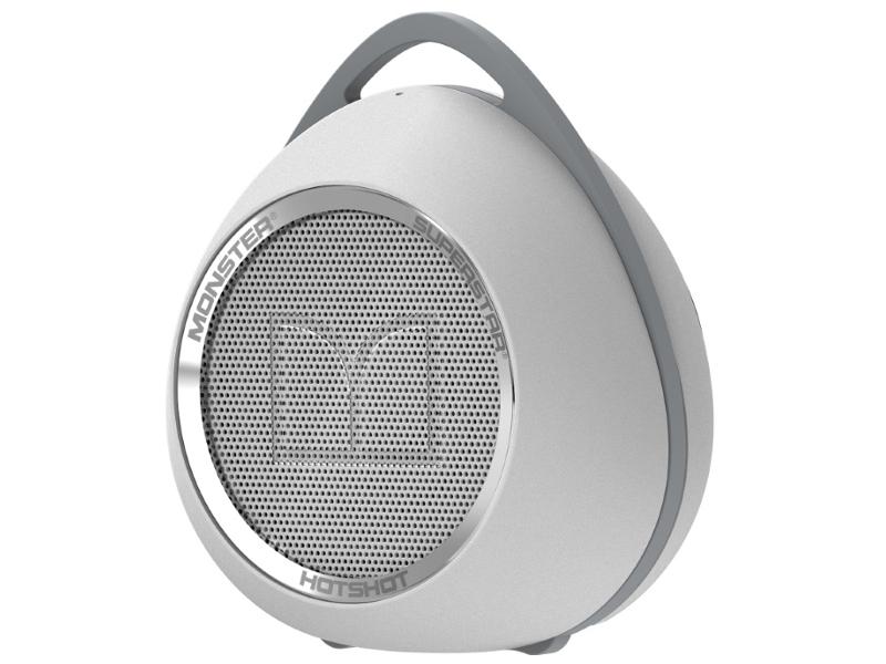 Колонка Monster SuperStar HotShot Portable Bluetooth White with Chrome 129290-00 портативная колонка monster superstar hotshot black gold 129289 00
