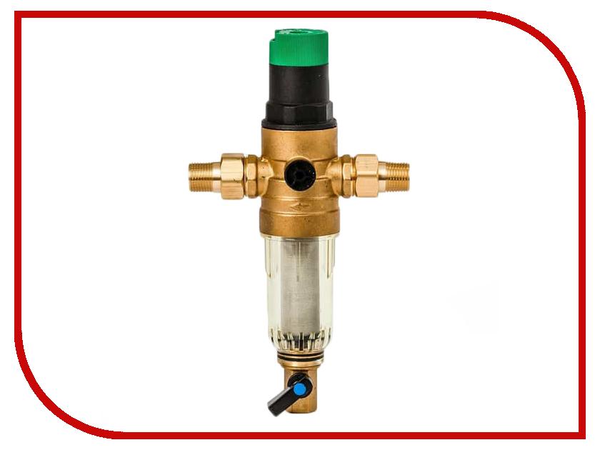 Фильтр для воды Гейзер Бастион 7508155233 1/2 для холодной воды с регулятором давления d52.5 32681
