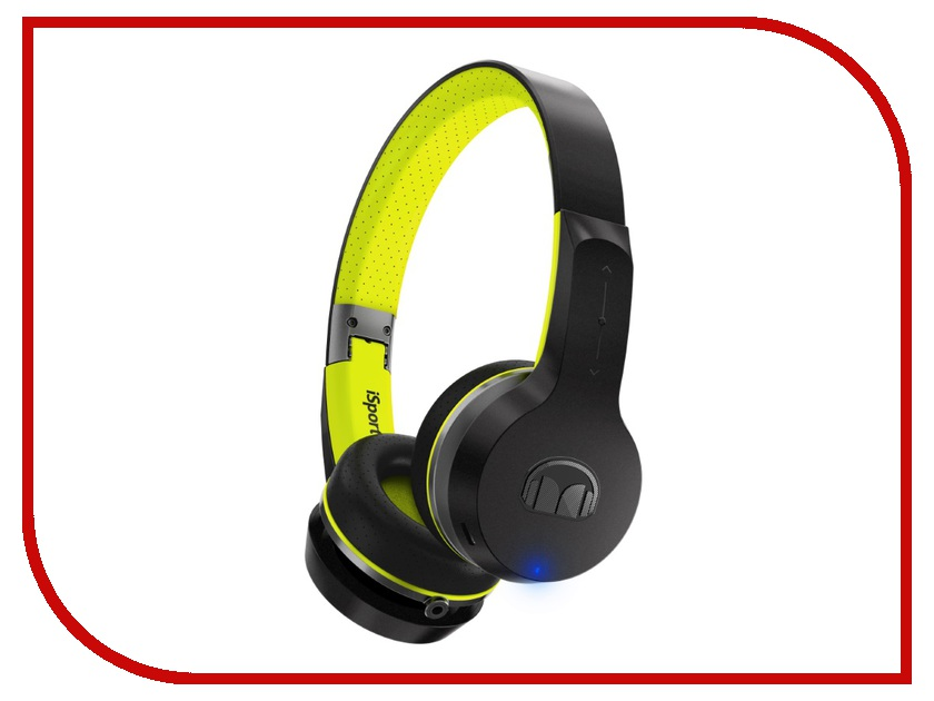 Monster iSport Freedom V2 Bluetooth Black Green On-Ear 137097-00 беспроводные наушники monster isport freedom wireless bluetooth on ear green