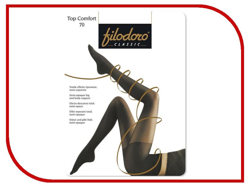 Колготки Filodoro Top Comfort размер 3 плотность 70 Den Nero колготки filodoro regina размер 3 плотность 100 den nero