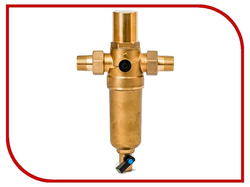 Фильтр для воды Гейзер Бастион 7508205201 3/4 для горячей воды с защитой от гидроударов d60 32684