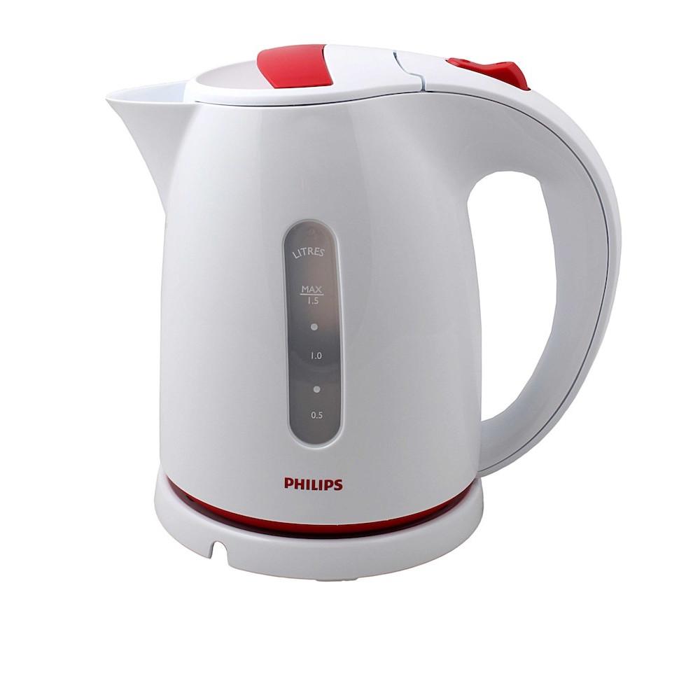 Чайник Philips HD4646/40 White-Red чайник philips hd4646 40 2400 вт белый красный 1 5 л пластик