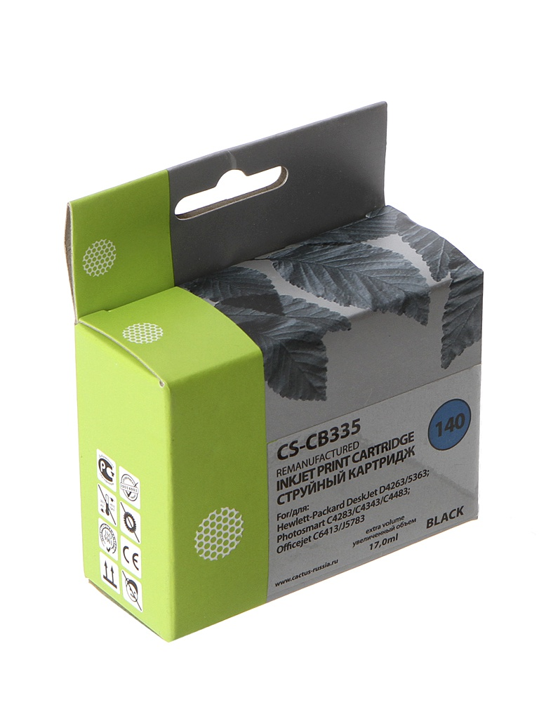 Картридж Cactus CS-CB335 Black для HP DJ D4263/D4363 цены