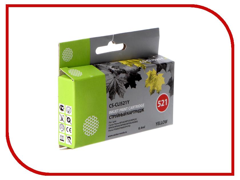 Картридж Cactus 521 CS-CLI521Y Yellow картридж cactus cs cli521y желтый