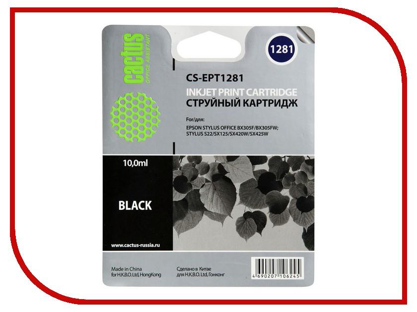Картридж Cactus 1281 CS-EPT1281 Black cs cz109ae cactus