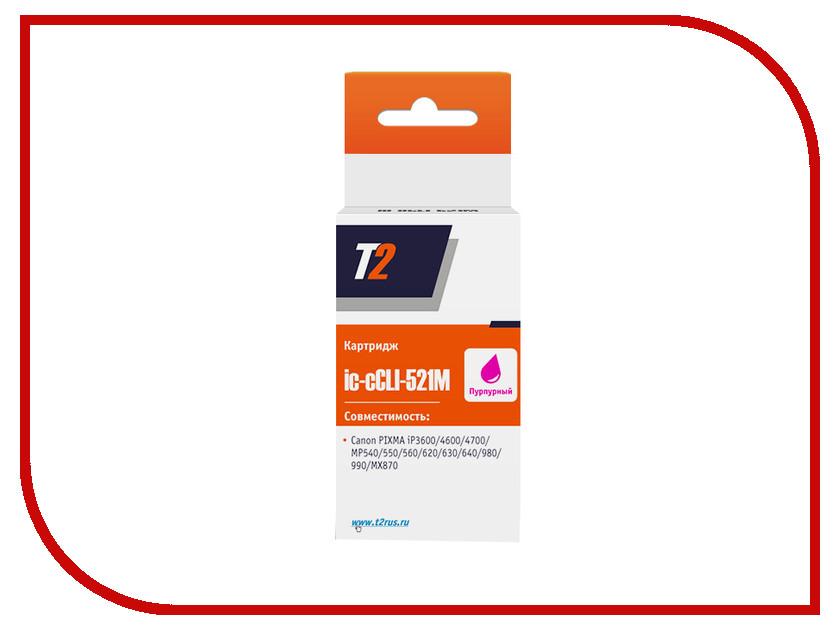 Картридж T2 IC-CCLI-521M Magenta t2 ic h4837 картридж для hp business inkjet 1200 2200 2600 2800 cp1700 pro k850 11 magenta