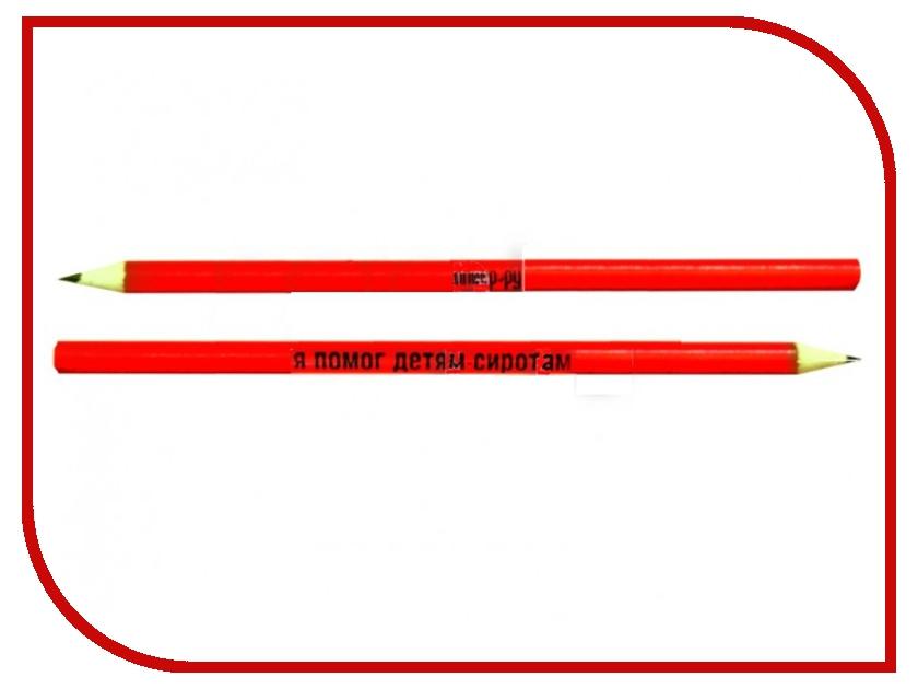 Благое дело Карандаш с ластиком =ВМЕСТЕ ПОМОЖЕМ ДЕТИШКАМ= Red-Black