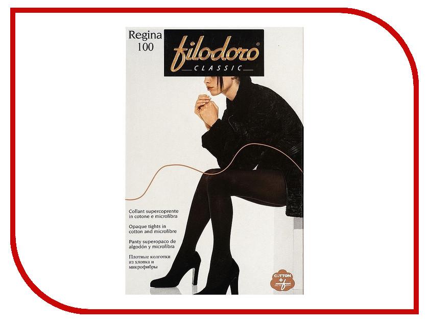 Колготки Filodoro Regina размер 4 плотность 100 Den Nero 40 недель regina nero