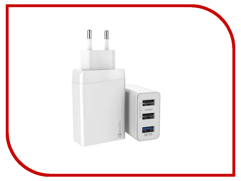 Зарядное устройство ACD ACD-Q303-X3W 3xUSB hammer premium acd 121 le acd 120 le acd 141 le 101 030