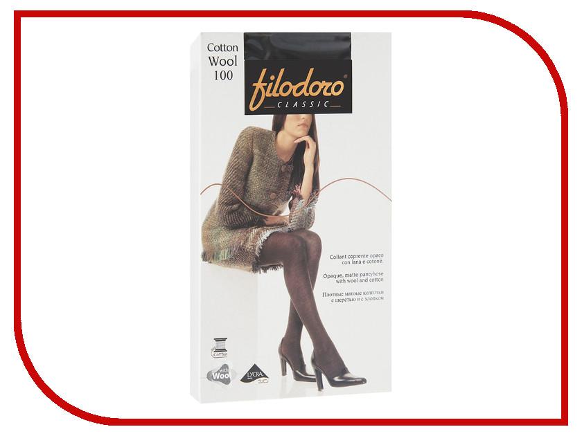 Колготки Filodoro Cotton Wool размер 2 плотность 100 Den Nero колготки filodoro regina размер 2 плотность 100 den nero