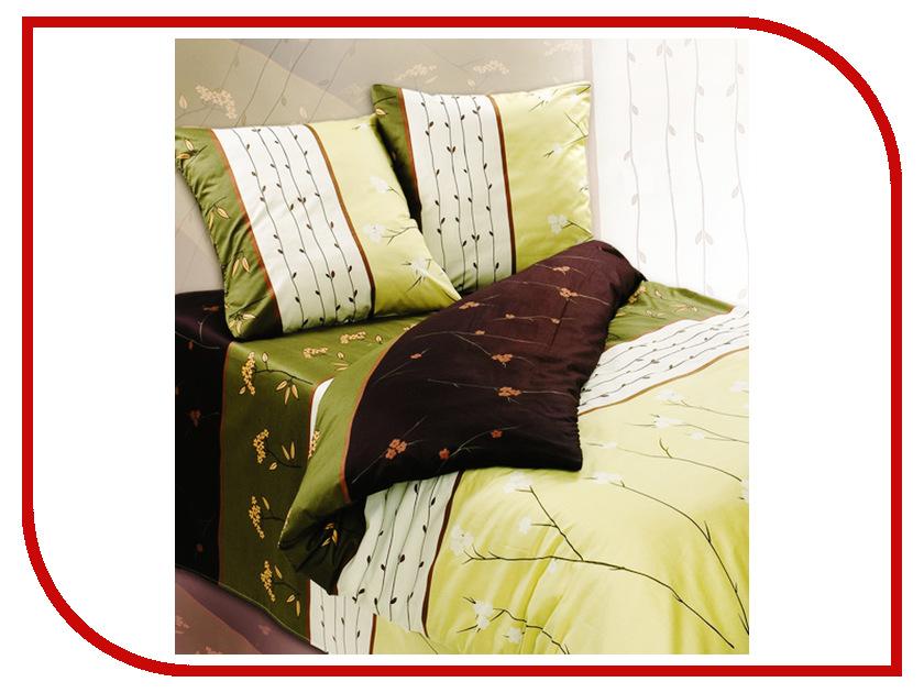Постельное белье Экзотика Апрель Комплект Евро Сатин постельное белье экзотика реноме комплект евро сатин