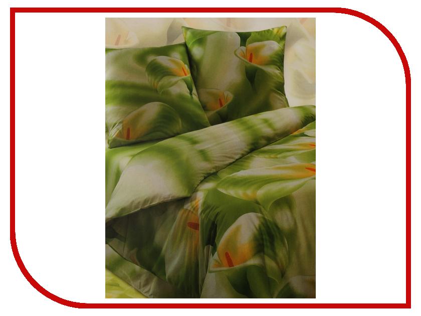 Постельное белье Экзотика Вдохновение Комплект 1.5 спальный Сатин chic quality flamingo and lotus pattern flax pillow case(without pillow inner)