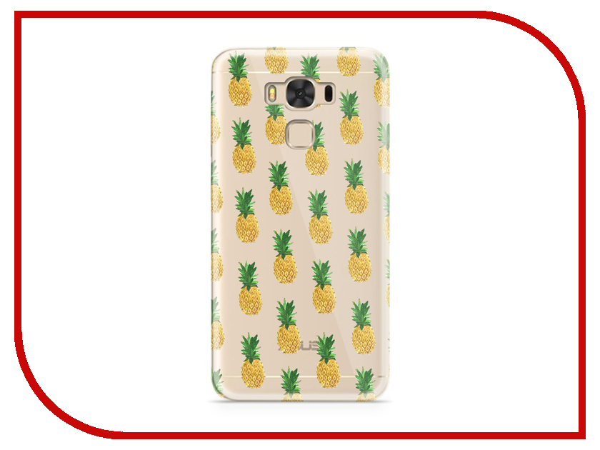 Аксессуар Чехол ASUS ZenFone 3 Max ZC553KL With Love. Moscow Silicone Pineapples 7200