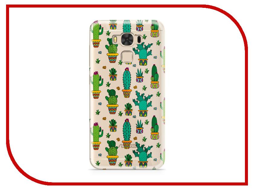 Аксессуар Чехол ASUS ZenFone 3 Max ZC553KL With Love. Moscow Silicone Cacti 7212 чехлы для телефонов with love moscow силиконовый дизайнерский чехол для meizu m3s перья