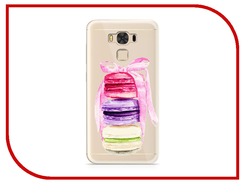 Аксессуар Чехол ASUS ZenFone 3 Max ZC553KL With Love. Moscow Silicone Makarons 7223