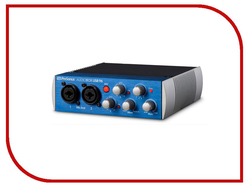 Аудиоинтерфейс PreSonus AudioBox USB 96 аналоговый микшер presonus studiolive ar16 usb
