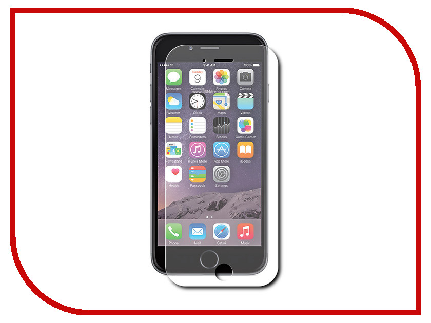 Аксессуар Защитное стекло Pero для APPLE iPhone 6/6S Plus PRSG-I6P аксессуар защитное стекло pero для apple iphone 7