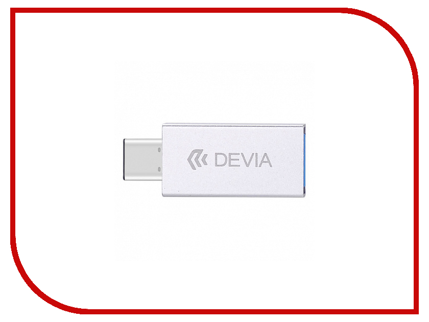 Аксессуар Devia iTec 2 Type-C To USB 3.0 Silver аксессуар devia pheez series type c 1m black