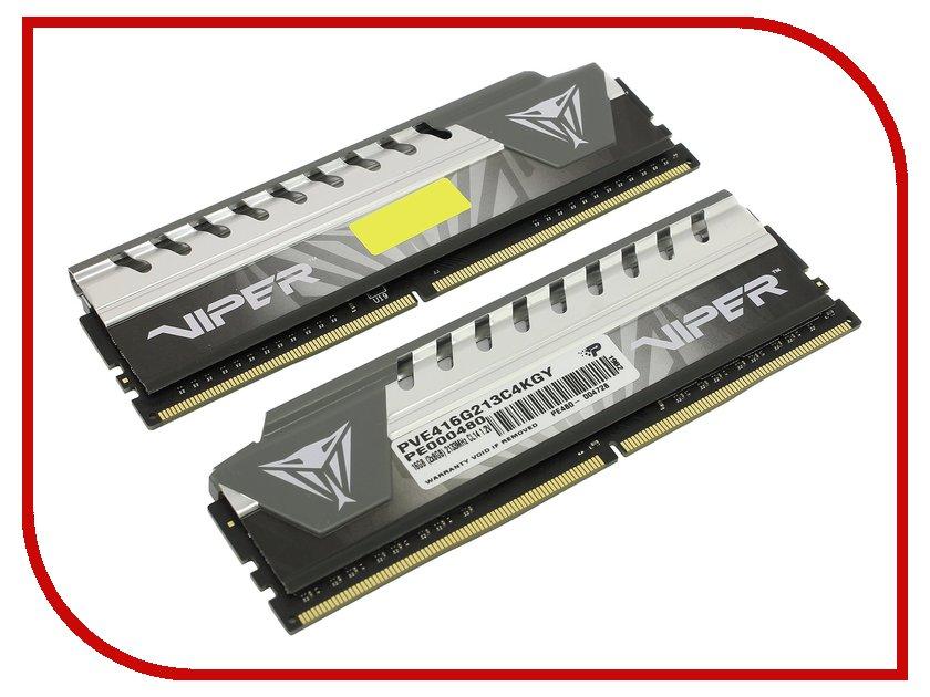 Модуль памяти Patriot Memory DDR4 DIMM 2133Mhz PC4-17000 CL14 - 16Gb KIT (2x8Gb) PVE416G213C4KGY