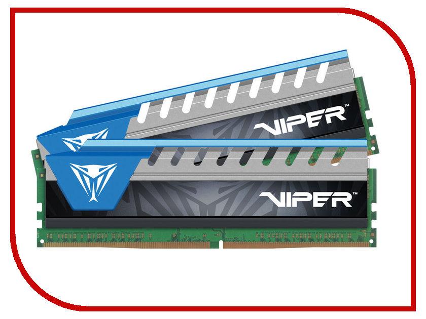 Модуль памяти Patriot Memory DDR4 DIMM 2666Mhz PC4-21300 CL14 - 16Gb KIT (2x8Gb) PVE416G266C6KBL модуль памяти patriot memory viper ddr4 dimm 2666mhz pc4 21300 16gb kit 2x8gb pv416g266c5k red