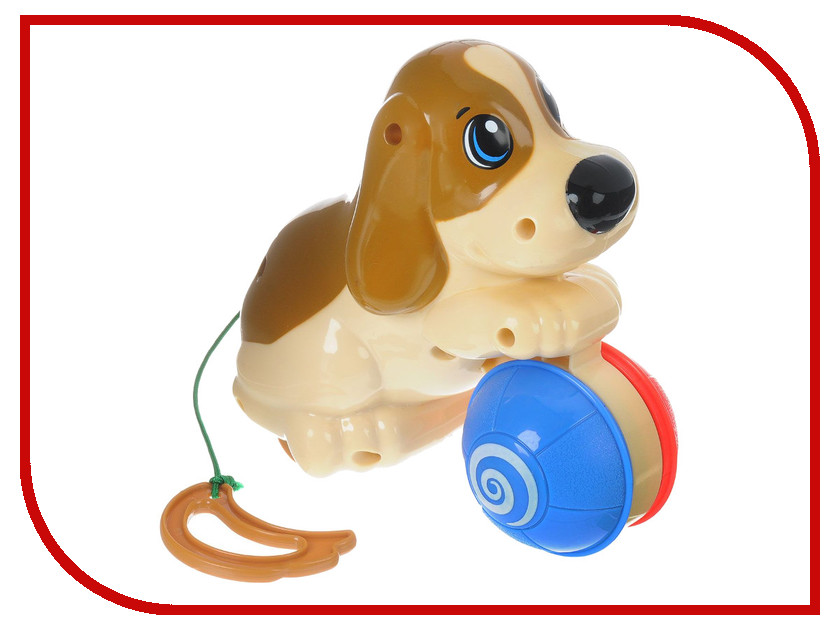 Игрушка Keenway Щенок с мячиком 12277 паровозик веселый keenway с паззлами