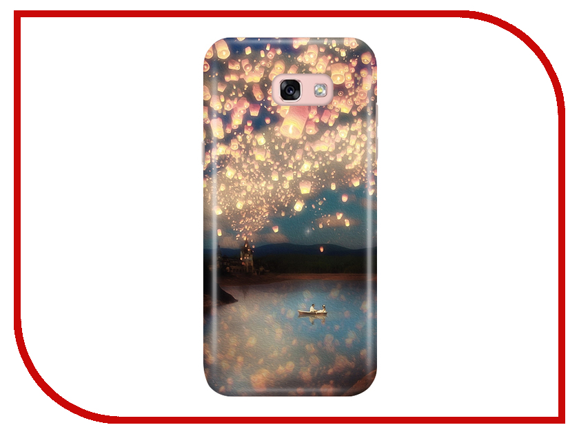 Аксессуар Чехол Samsung Galaxy A5 2017 A520 With Love. Moscow Lake 6943 аксессуар чехол with love moscow samsung galaxy j5 2017 кожаный black 10206