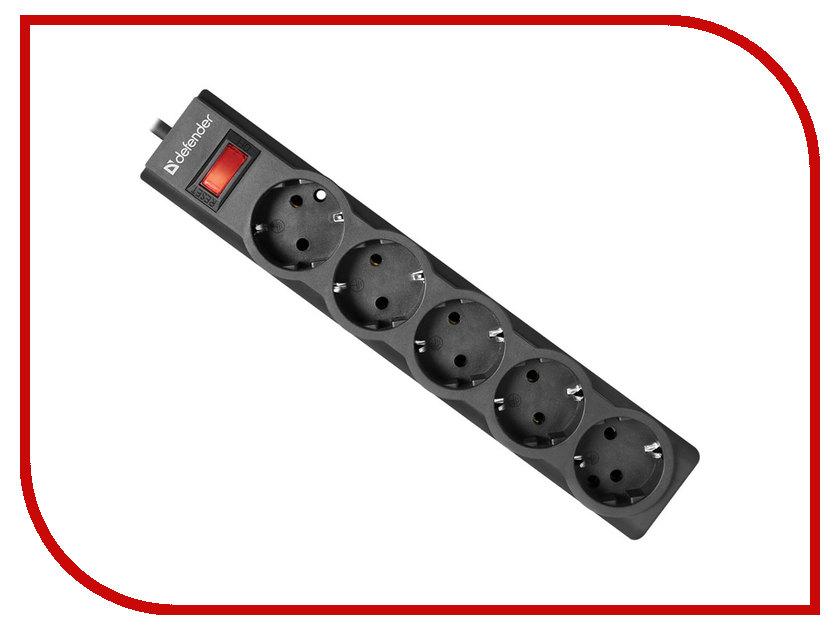 Сетевой фильтр Defender ES Largo 3 5 Sockets 3.0m Black 99498