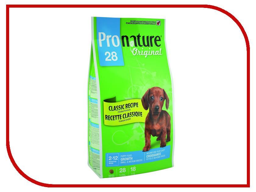 Корм Pronature 28 Цыпленок 350g для щенков мелких и средних пород 102.565 корм для котят pronature 30 цыпленок сух 350г
