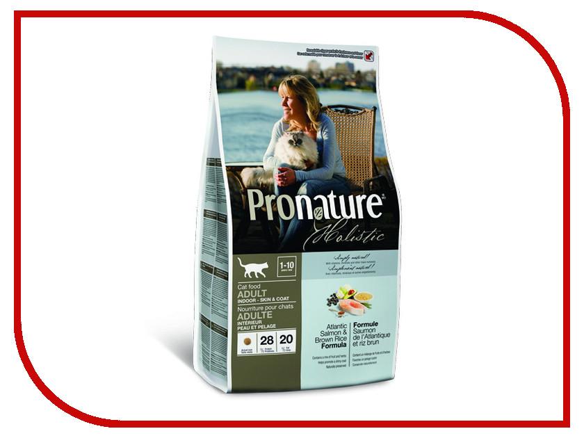 Корм Pronature Holistic лосось с рисом 2.72kg для кошек 102.2030 сухой корм pronature holistic adult cat skin