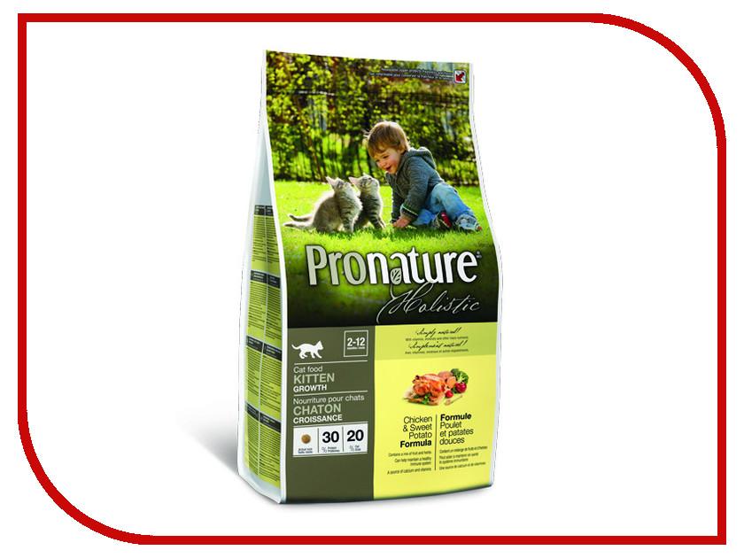 Корм Pronature Holistic курица со сладким картофелем 2.72kg для котят 102.2041 сухой корм pronature holistic adult cat skin