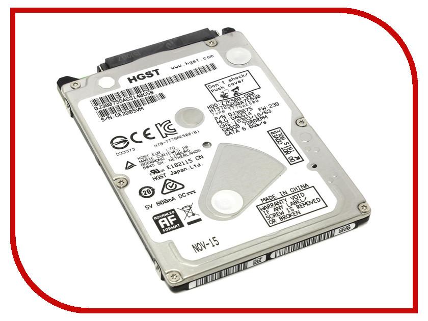 Жесткий диск 500Gb - HGST 7200RPM 32MB Z7K500.B 1W10098 verbatim 500gb 53070
