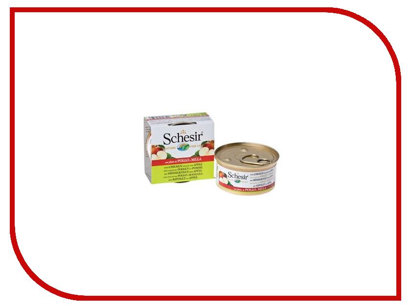 Корм Schesir 3523 Цыпленок и яблоко 75g для кошек 132.С352 цена и фото