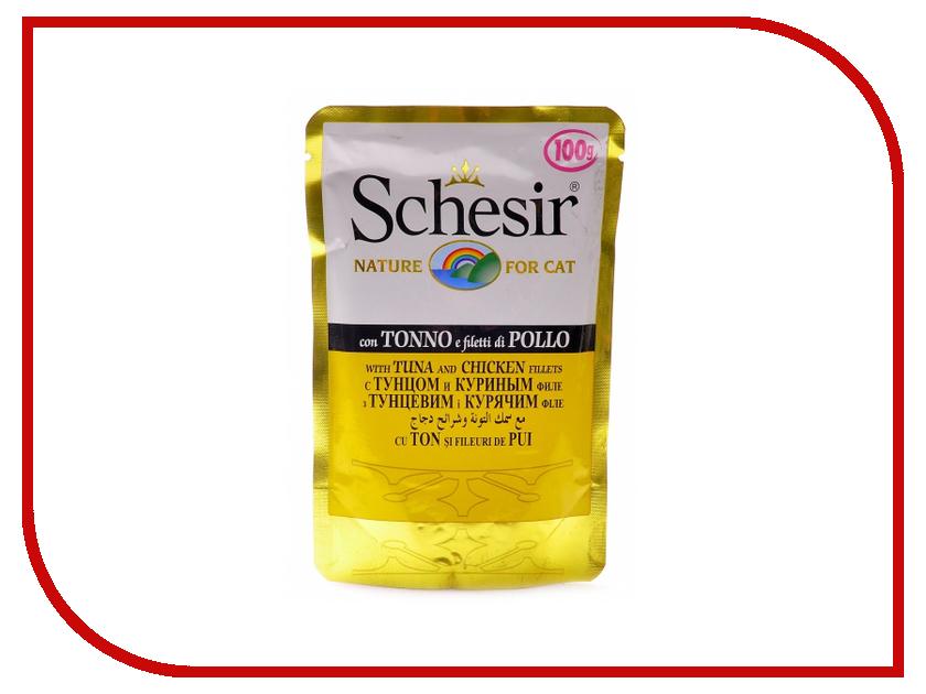 Корм Schesir 1027 Тунец и цыпленок 100g для кошек 132.С561 цена и фото