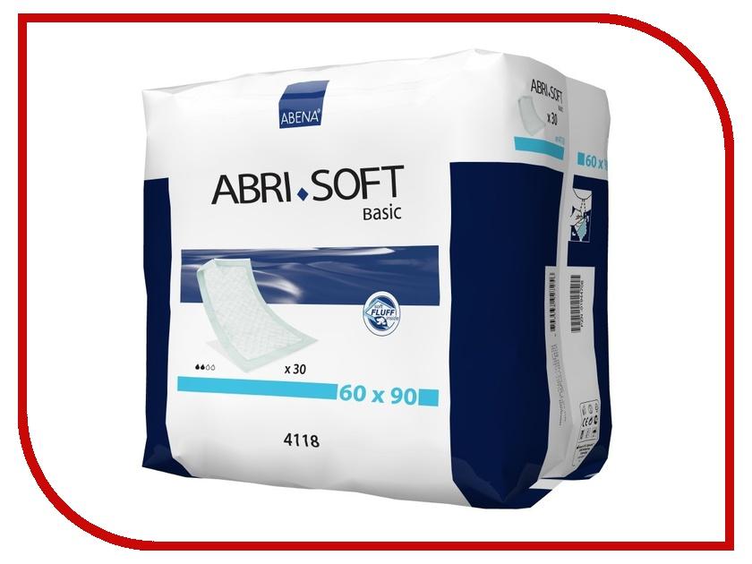 Пеленки Abena Abri-Soft Basic 60x90cm 30шт 4118 abena подгузники для взрослых abri flex м2 дневные 14 шт 41084