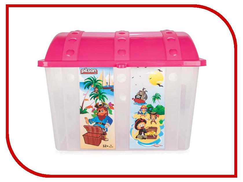 Корзина для игрушек Pilsan Контейнер для игрушек Сундук Pink пазл сундук