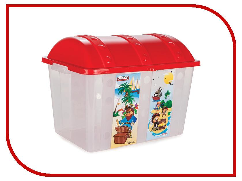 Корзина для игрушек Pilsan Контейнер для игрушек Сундук Red pilsan контейнер для игрушек бегемот